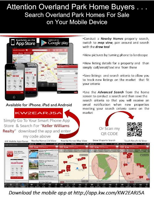 Search Overland Park homes on your mobile phone