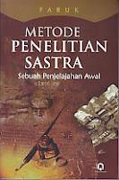 toko buku rahma: buku METODE PENELITIAN SASTRA, pengarang faruk, penerbit pustaka pelajar