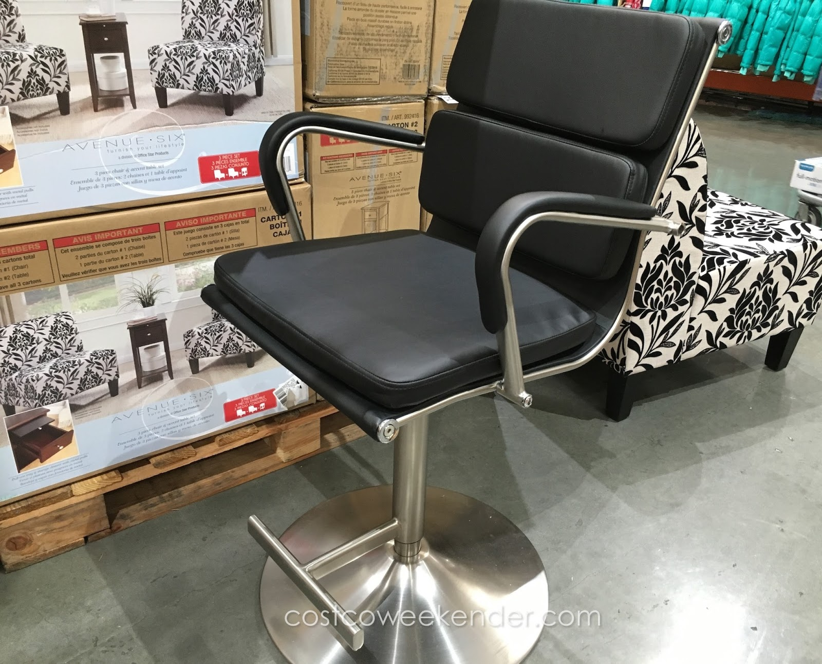 Bayside Furnishings Gas Lift Bar Stool Costco Weekender