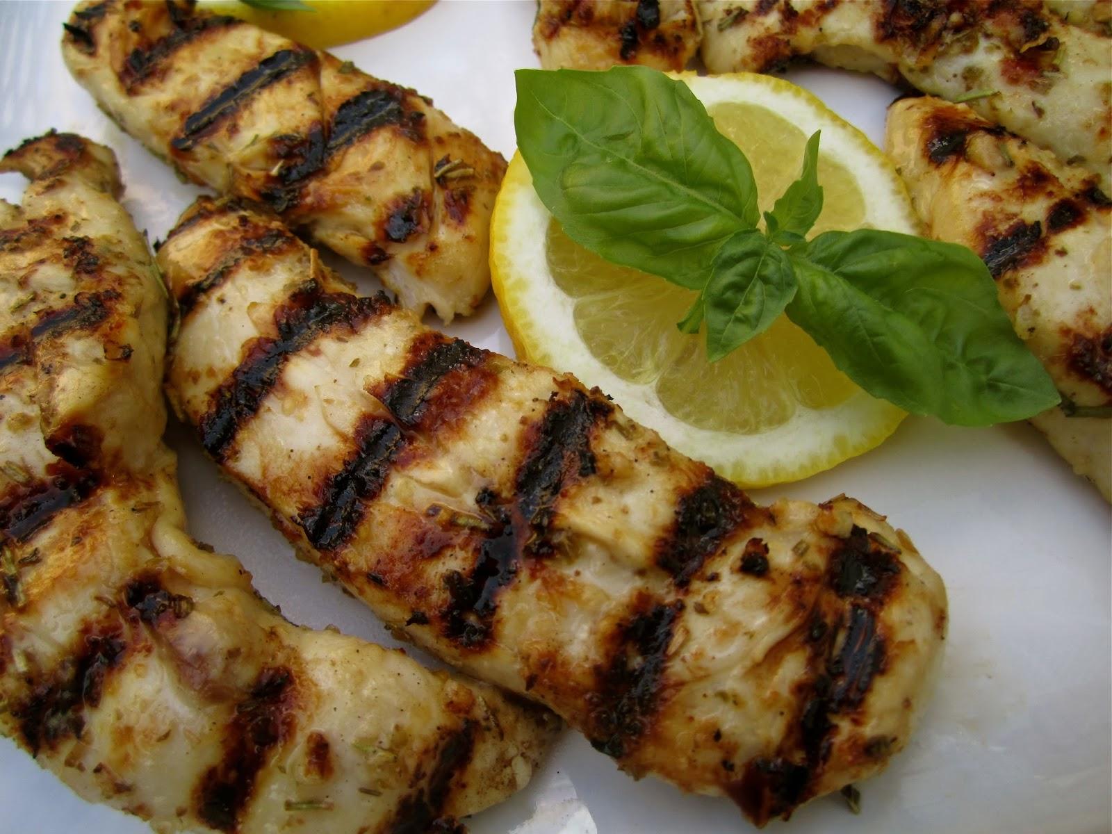 Stephanie Cooks: Grilled Lemon, Rosemary, & Basil Chicken Tenders