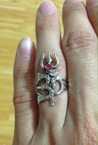 OM Sterling Silver Ring 925