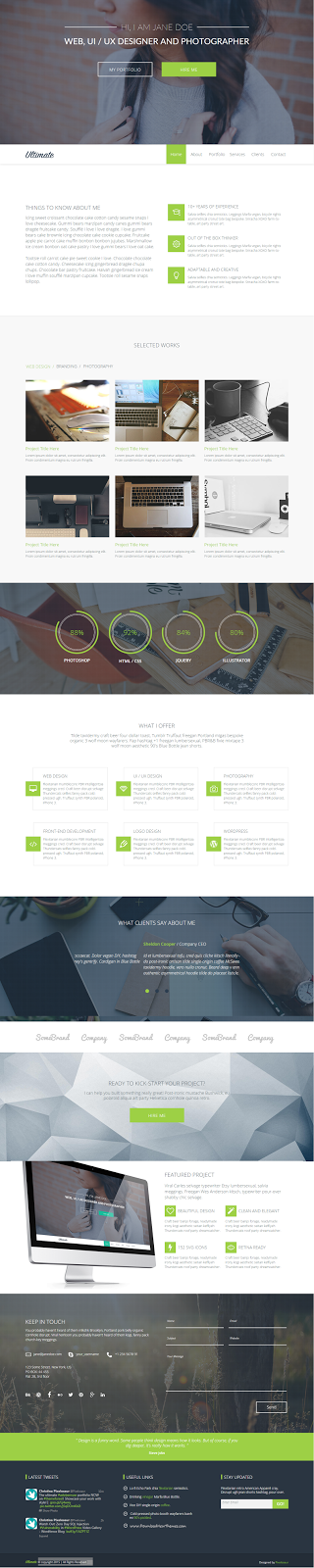 Best One Page Adobe Muse Template