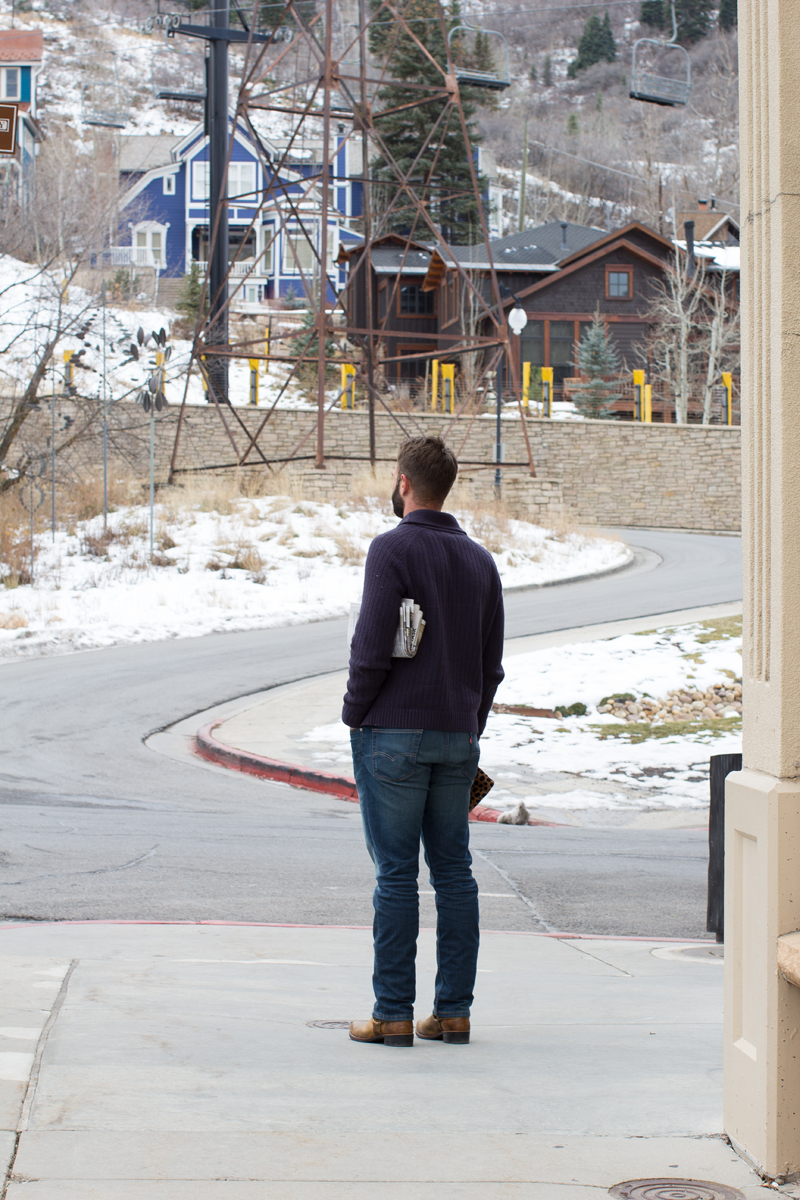 man in park city