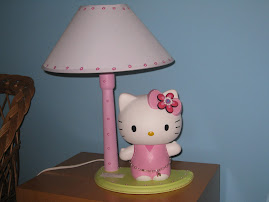 Candeeiro Hello Kitty (artesanal)