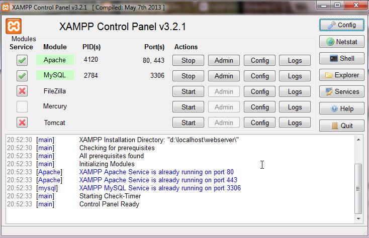 Download Web Server XAMPP