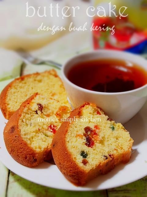 butter cake buah kering tanpa zat aditif