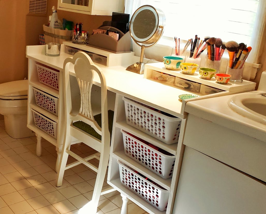 My great challenge diy vanity makeup storage Makeup organizer ideas