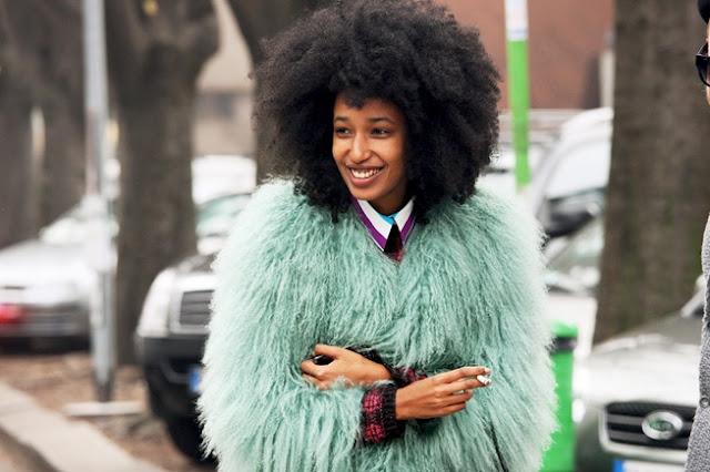 Fur coat trend street style