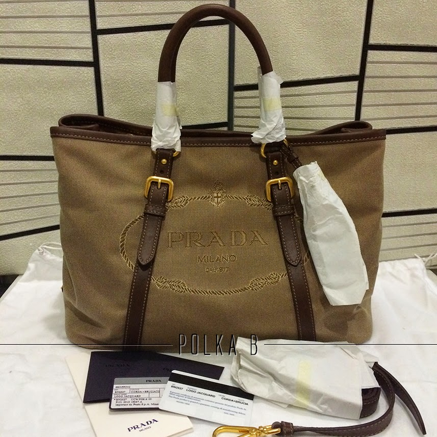 Prada Bauletto Logo Jacquard Top Handle Bag (BN2527) - Corda+ ...