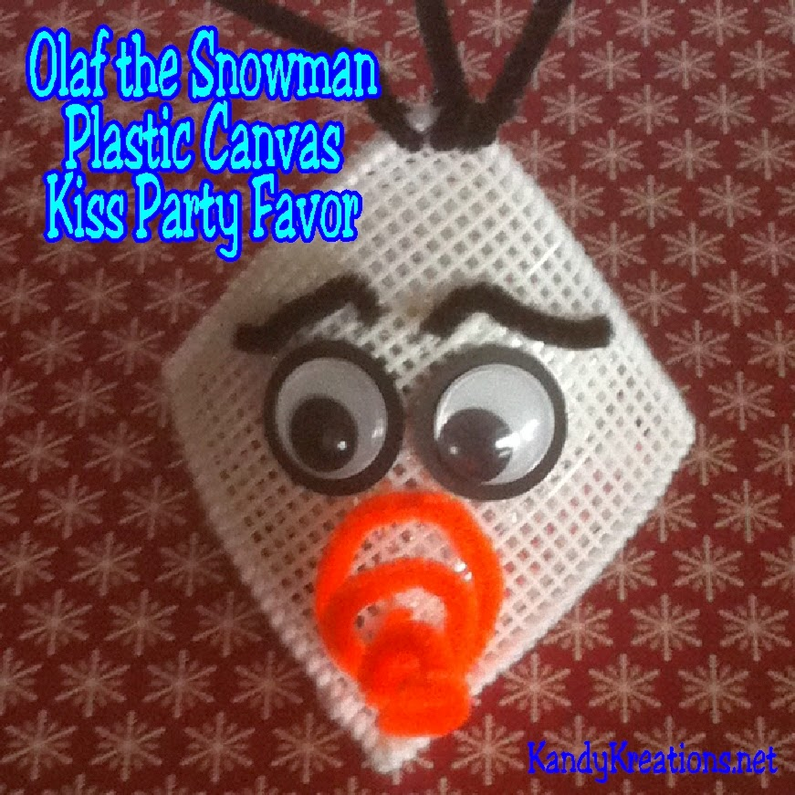 Olaf the Snowman Plastic Canvas Kiss by Kandy Kreations