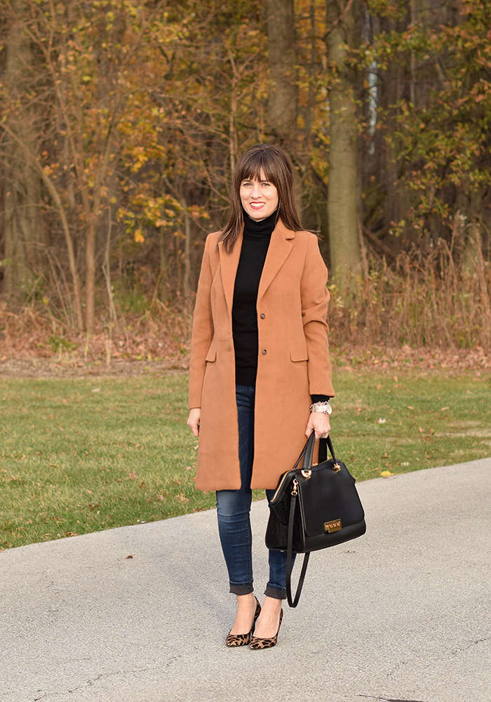 leopard pumps, cyber monday, winter coat, gift ideas
