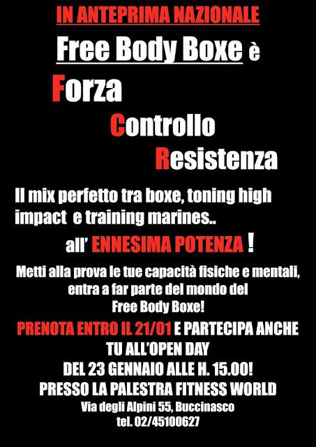 Open day free body boxe, 23 gennaio 2016 a Buccinasco, Milano