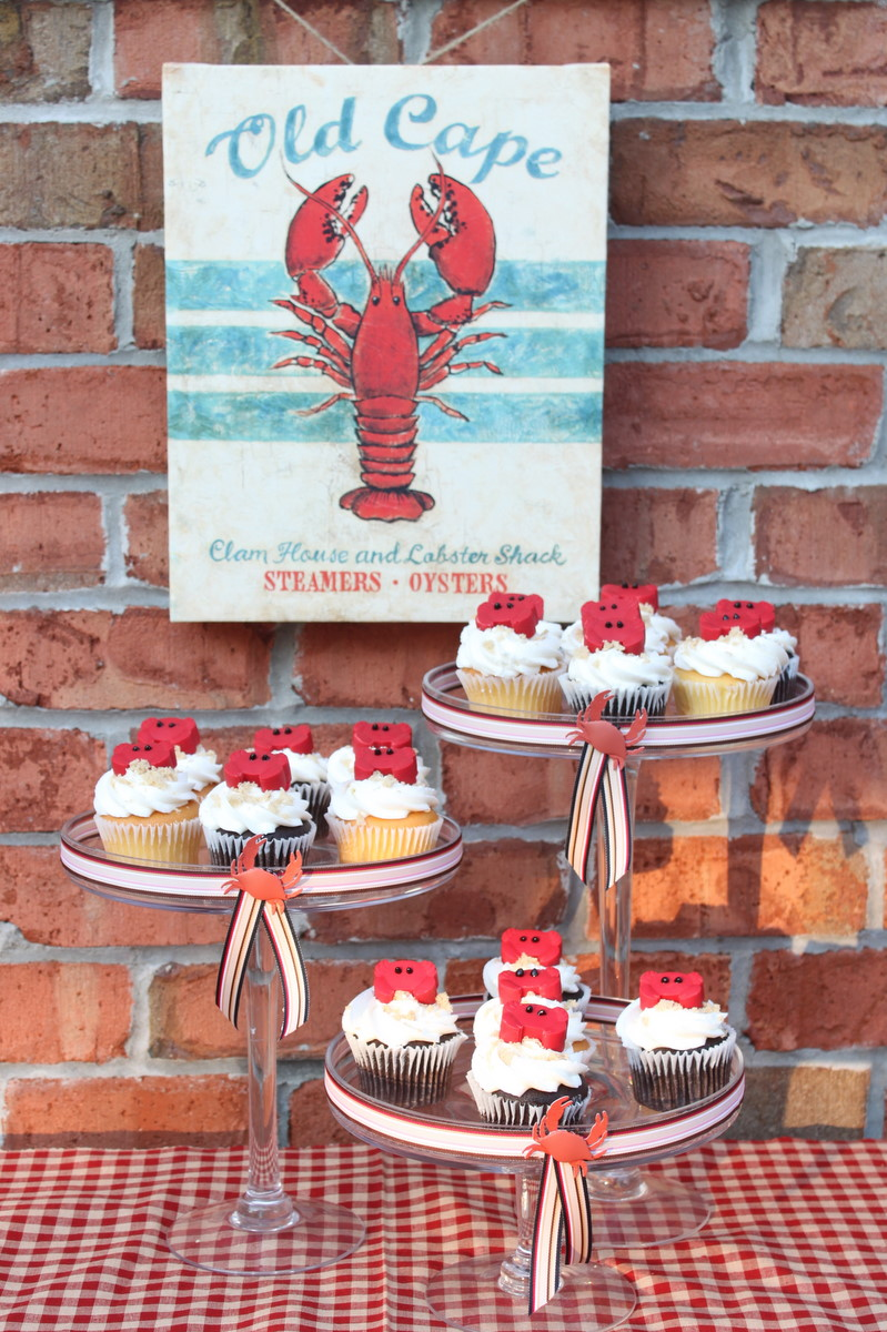 Candy Crab Cupcake Toppers Beach Nautical Party Theme