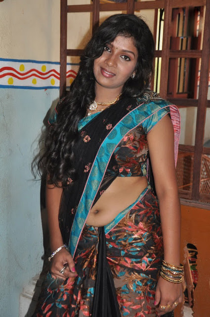 Kajamugan Movie Actress Hot Show In Saree photo Album