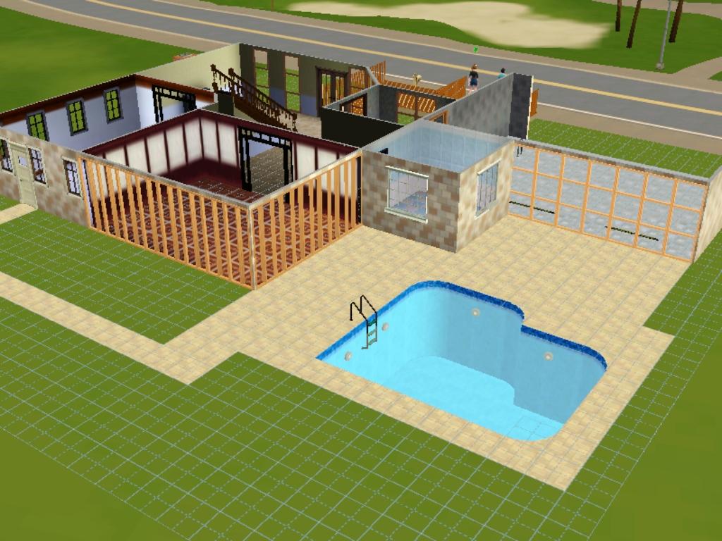 Construindo casas em mans o kindson the sims 3 inspiration for Piscina sims 4