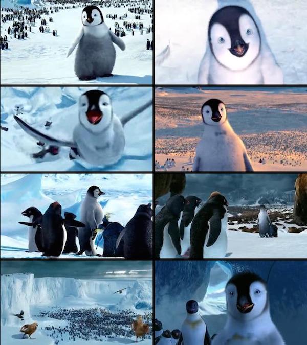 Happy Feet 2006 Dual Audio Hindi English BRRip 480p