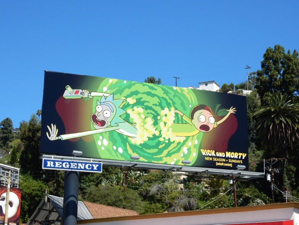 Rick and Morty season 2 Adult Swim billboard