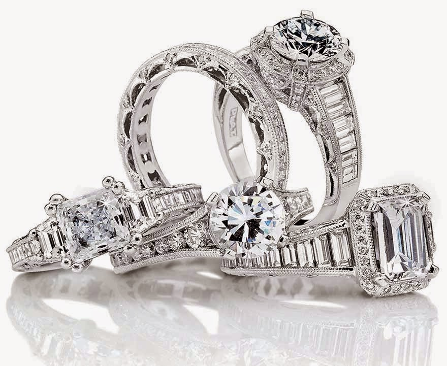 Tacori Stunning Wedding Rings Sets White Gold Images