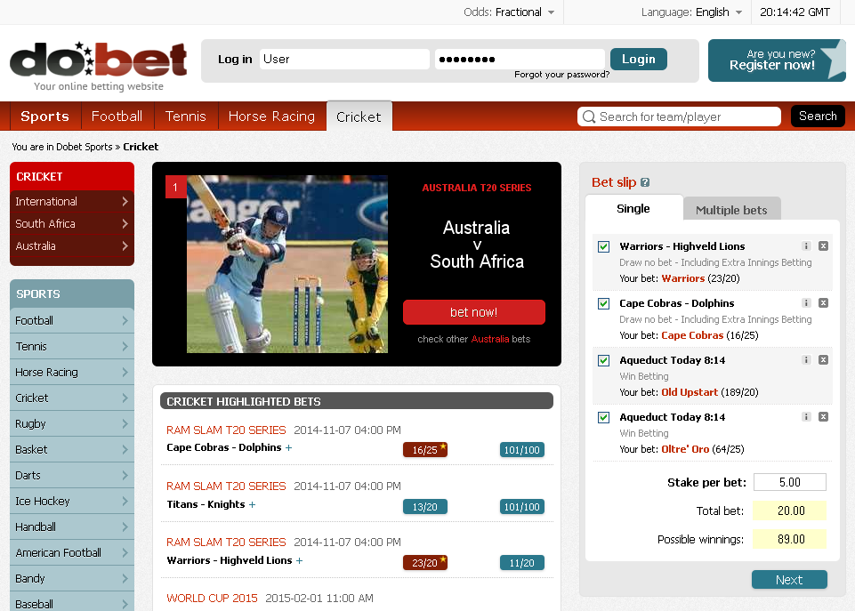 Dobet Cricket Screen