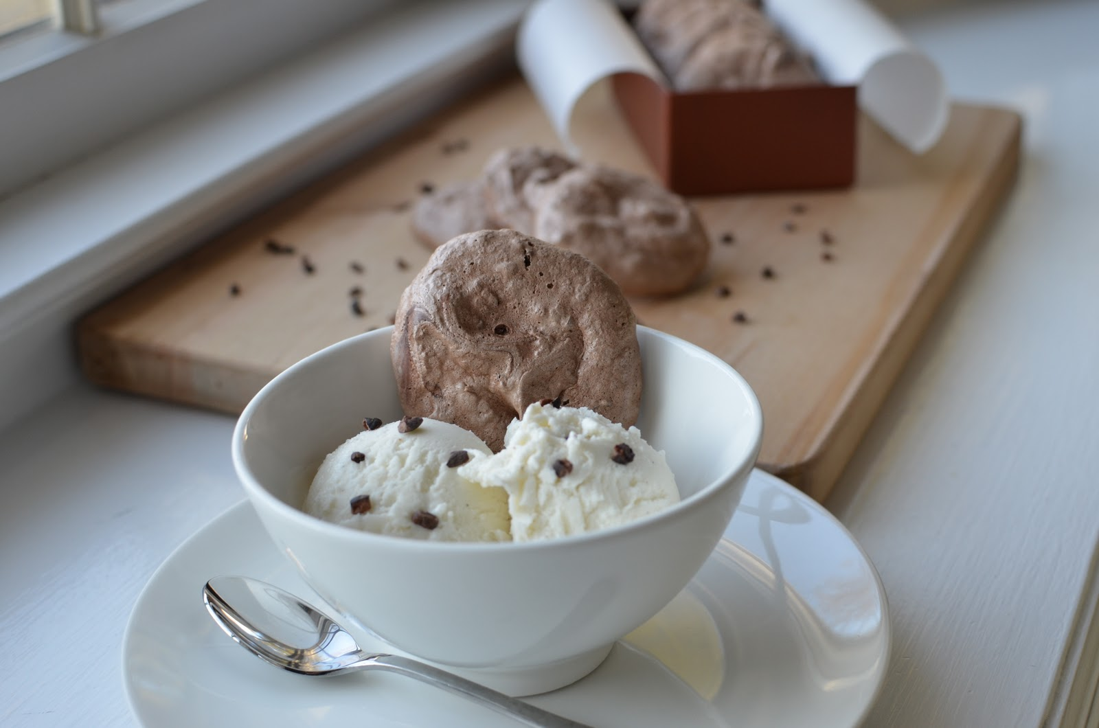 This recipe was adapted from Martha Stewart's mocha-chip meringues ...