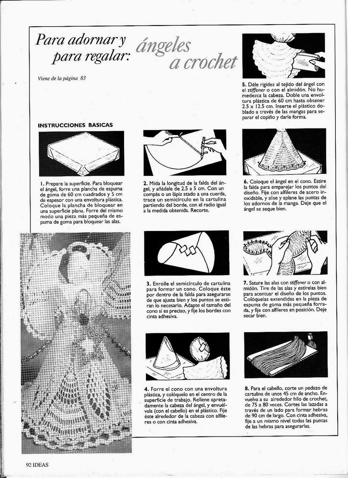 Manualidades y algo de psicología: Angel tejido con hilo de algodón