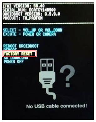 Mode Droidbooting pada Asus Zenfone