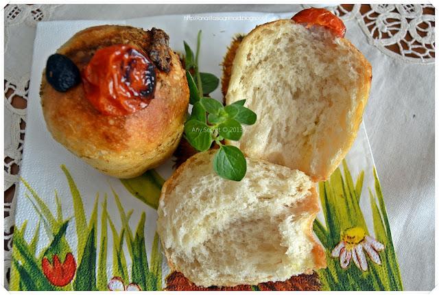 muffin al pesto con lievito madre: una