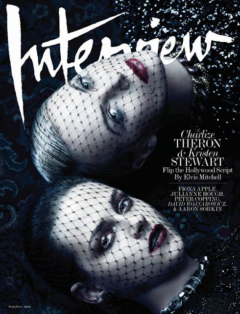 Kristen Stewart e Charlize Theron na Interview
