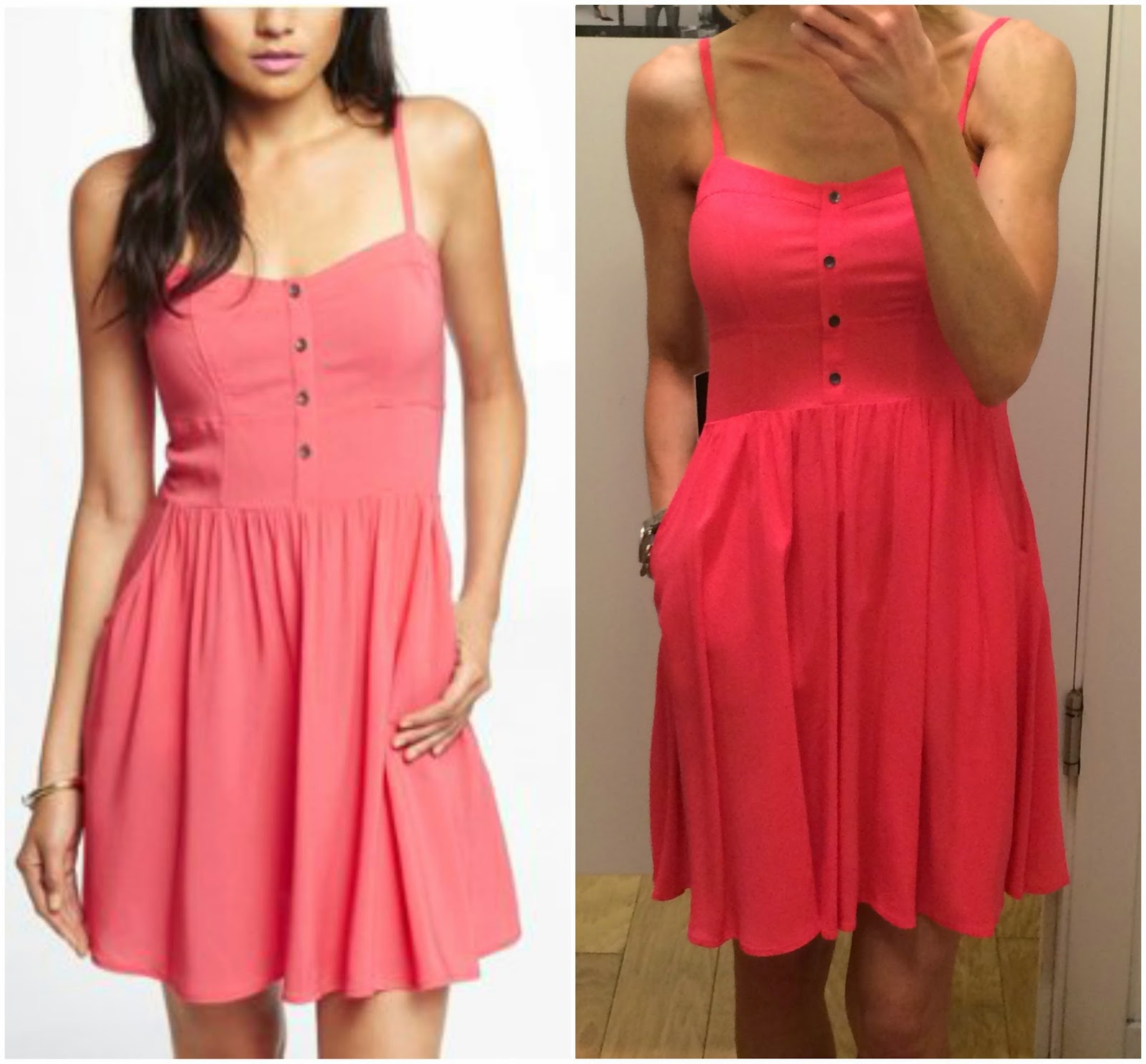 The dress express - Pink Cami Sundress Details Even Though The Top Of This Dress Is A Cami Style Like The Lace Trimmed Romper These Buttons Are Just For Decoration