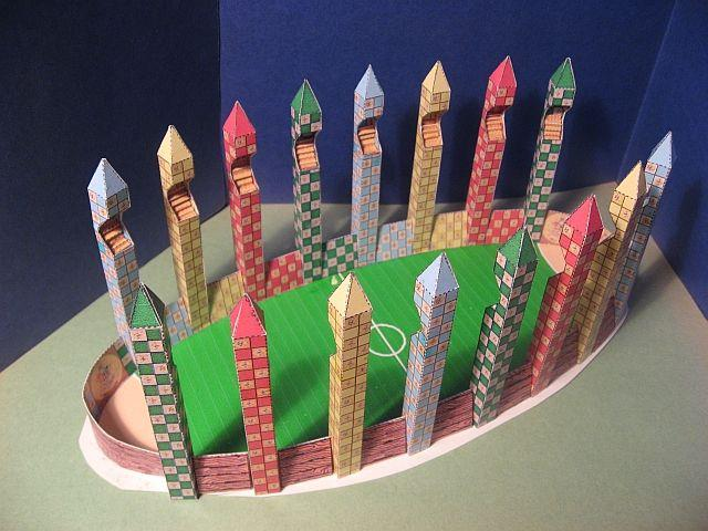 Harry Potter Papercraft Quidditch Field