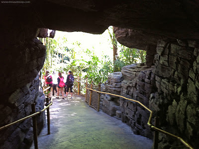 Indiana Jones Adventure Disneyland Temple exit path cave