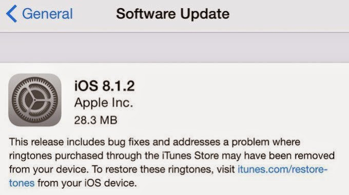 iOS 8.1.2 is available