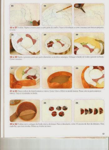 Coelho de feltro com cenouras de tecido