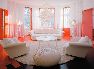 sala con detalles coral