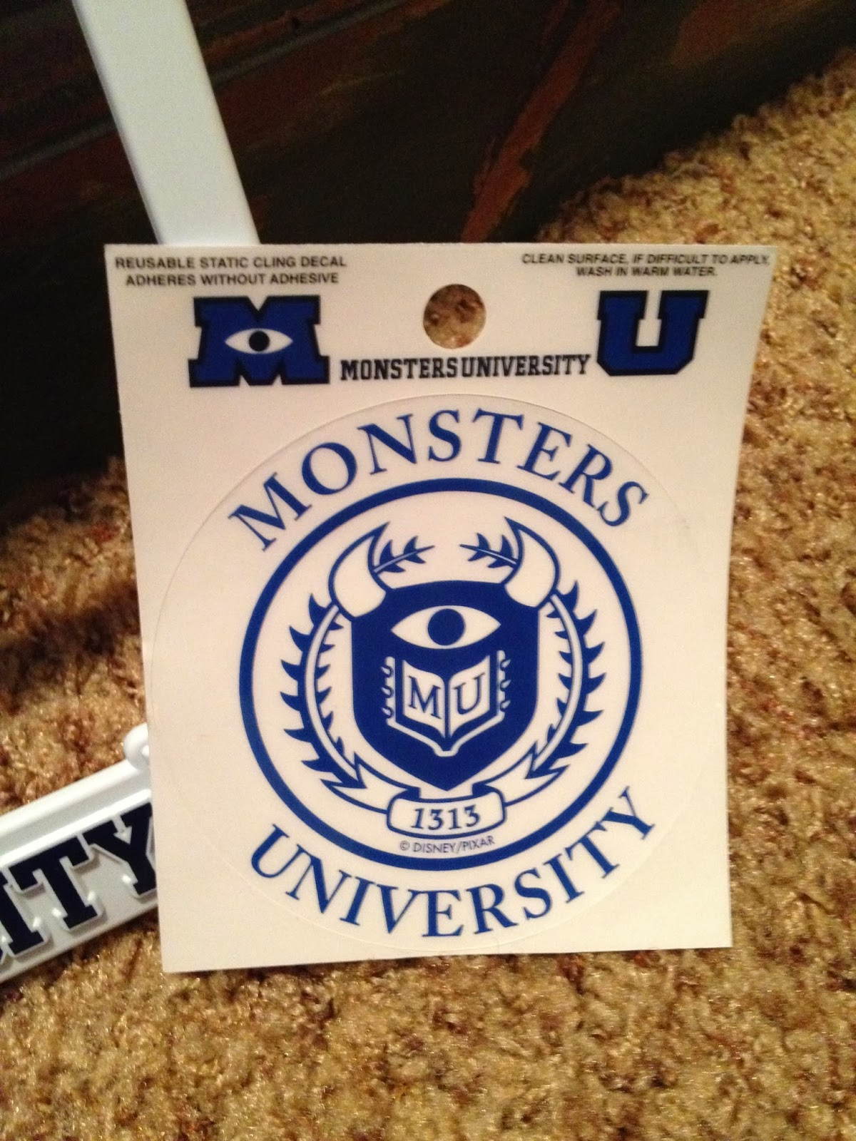These accessories were the perfect way to do that as I absolutely LOVE Monsters University and the themes/message throughout. & Dan the Pixar Fan: Monsters University: Alumni License Plate Frame ...