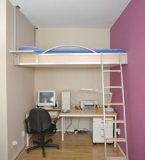 Loft Bed Ideas for Small Spaces 500 x 549