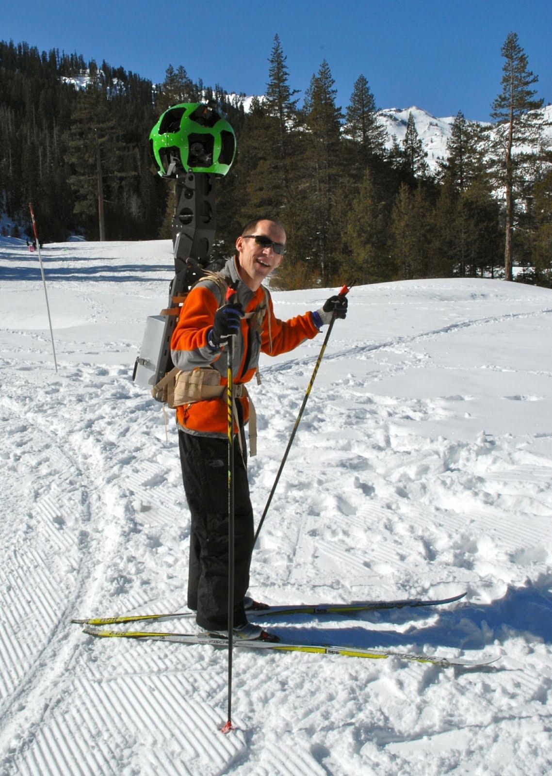 Luc Vincent auf Skiern