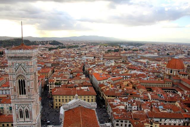 Vue depuis le Duomo à Florence