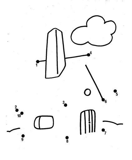 Desenhos Para Colori Ligar pontos barcos e castelos desenhar