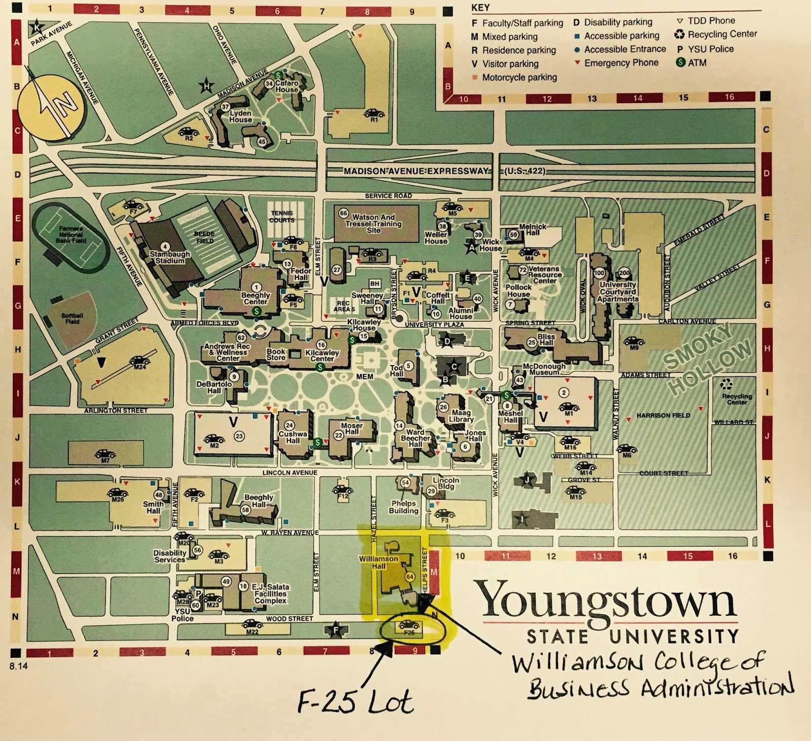 Ysu Campus Map map of dallas fort worth anna maria island map