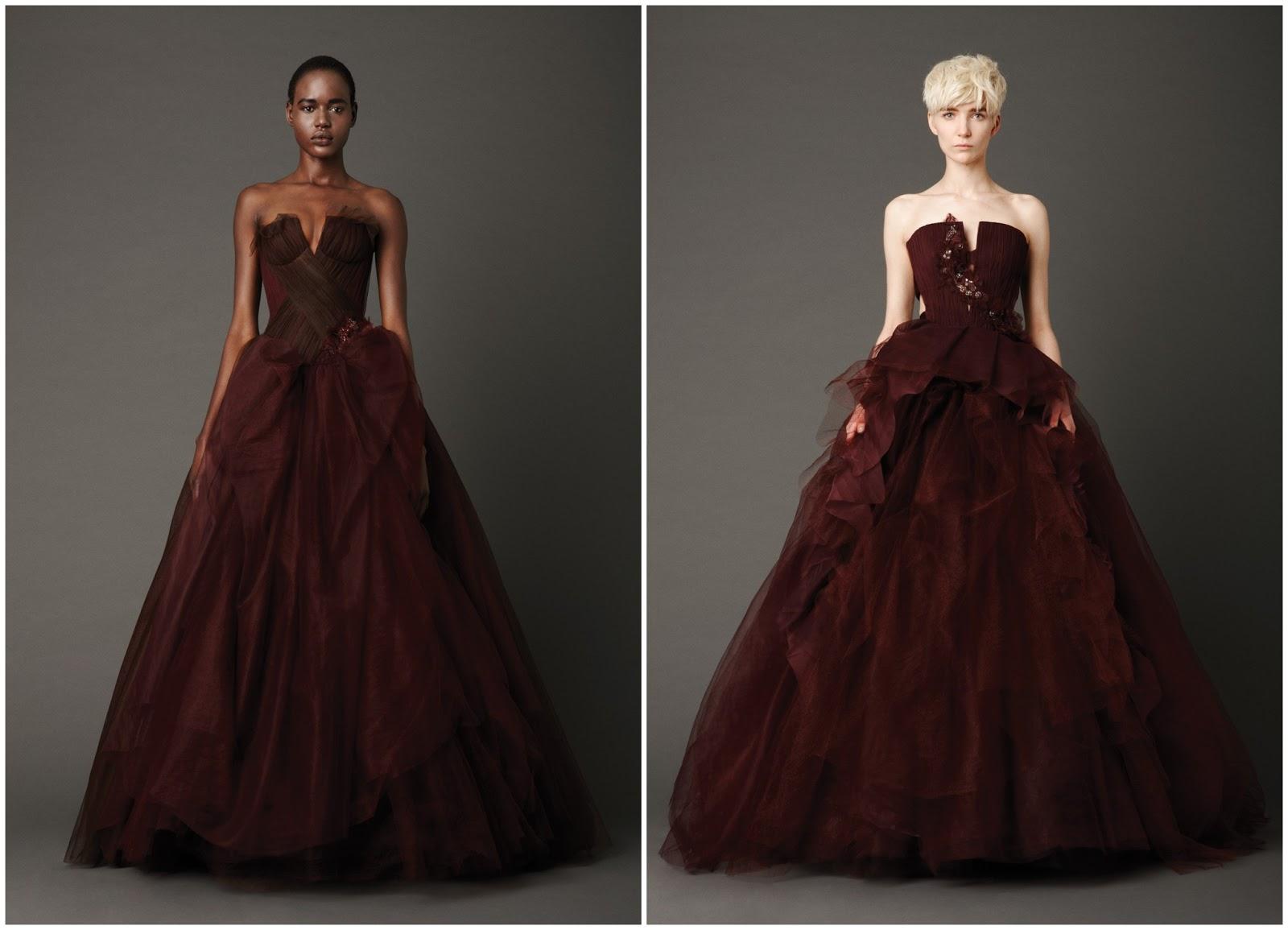 moda de popular vida: Los vestidos rojos de novia de Vera Ellen Wang ...