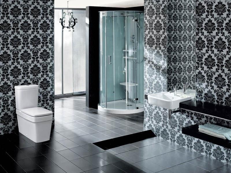 Motif Decorative Ceramic Bathroom Design