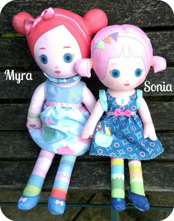 Mooshka Sing Around the Rosie Doll - Myra - compared with standard Mooshka Dolll