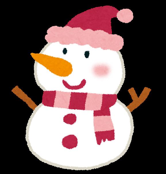 クリスマスのイラスト「雪だるま」