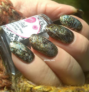 Splatter -  SV by Sparkly Vernis Gilded Lemon Drops  and A England Fotheringhay Castle