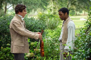 Benedict Cumberbatch and Chiwetel Ejiofor in 12 Years a Slave.
