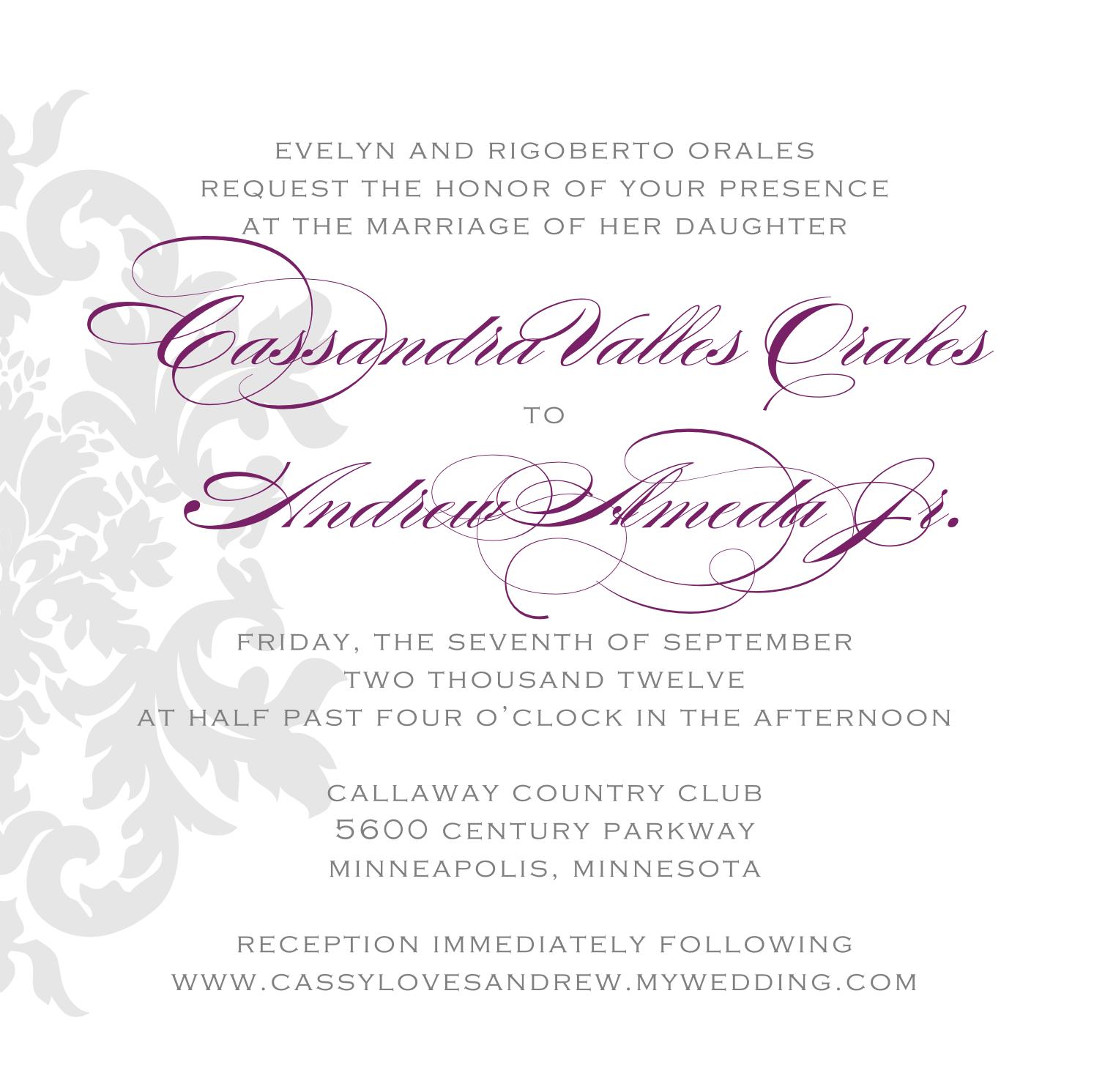 Signatures by Sarah: Wedding Stationery for Cassandra