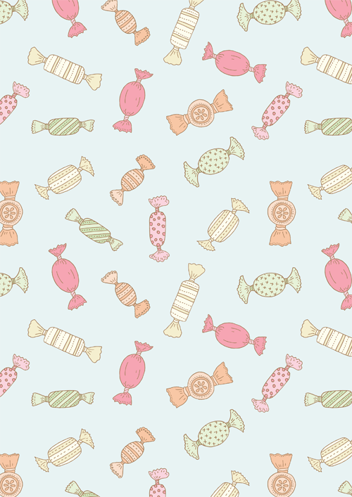 Emma Margaret Illustration Sweets Pattern 2015