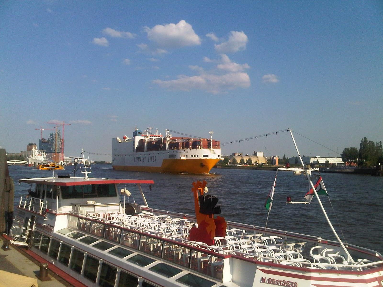 Grande Brasile der Grimaldi Lines im Hamburger Hafen