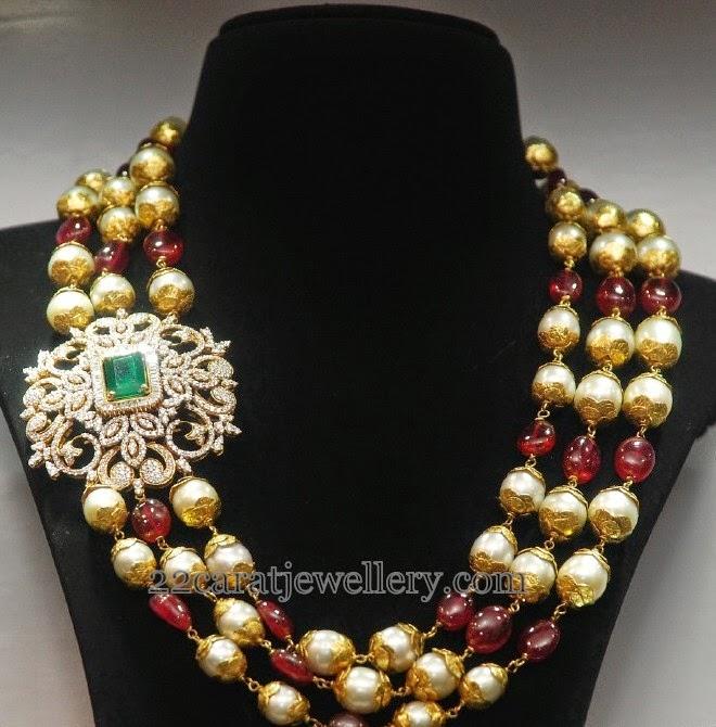 Multi Beads Chain with Diamond Motif